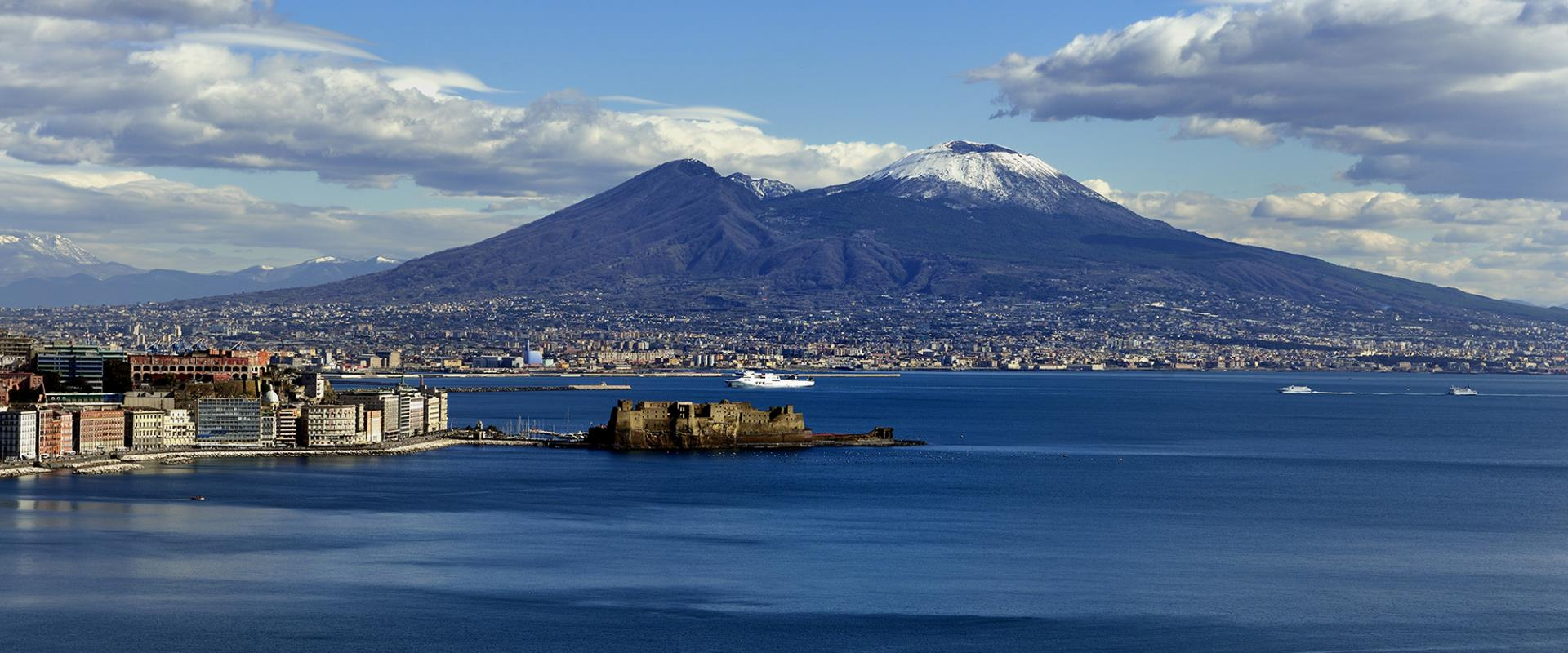 The wonderful view of the Gulf of Naples from Hotel Posillipo
