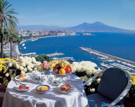 Breakfast overlooking the Gulf of Naples fromBW Signature Collection Hotel Paradiso