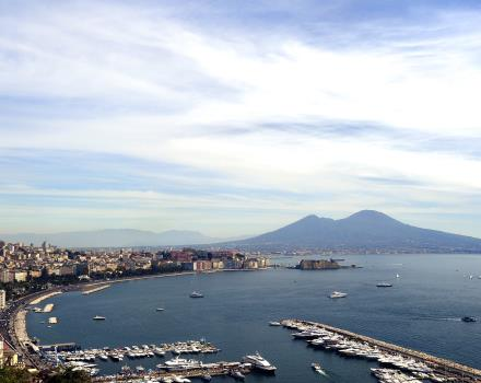 Mergellina overview from the BW Signature Collection Hotel Paradiso from Naples, 4 star Hotel Posillipo