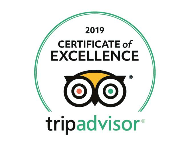 Certificate of Excellence Tripadvisor 2019 Hotel Paradiso Naples