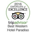 Certificate of excellence Tripadvisor Hotel Paradiso Naples 2016