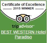 Hotel Paradiso has received the certificate of excellence 2015 thanks to the excellent Tripadvisor reviews of guests!