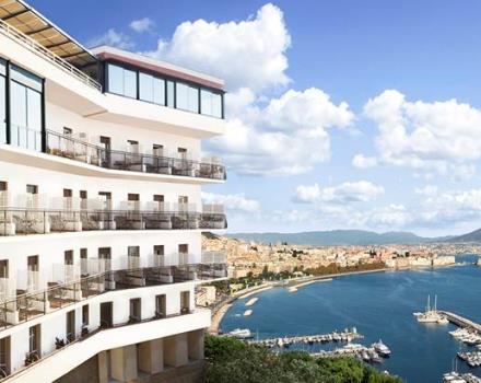 Hotel Paradiso Naples. View of the Bay of Naples Posillipo hotel